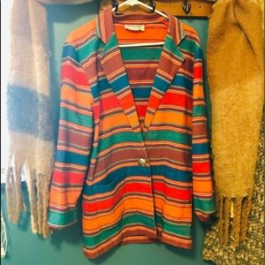 Amazing vintage multicolored coat